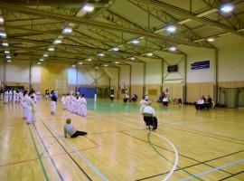 Karateturnering i Vålehallen